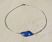 Kowal Outdoorschmuck Damenhalskette Blue Wave, Frontansicht, klein
