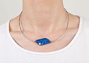 Kowal Outdoorschmuck Damenhalskette Blue Wave, am Hals getragen, klein