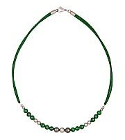 Kowal Outdoorschmuck Damenhalskette Shining Green, Aufsicht, klein