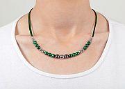 Kowal Outdoorschmuck Damenhalskette Shining Green, am Hals getragen, klein