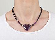 Kowal Outdoorschmuck Damenhalskette Dreaming Purple, am Hals getragen, klein