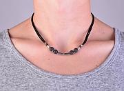 Kowal Outdoorschmuck Herrenhalskette Cold Magma aqua plus M, am Hals getragen, klein