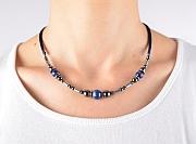 Kowal Outdoorschmuck Damenhalskette Blue Line aqua plus, am Hals getragen, klein