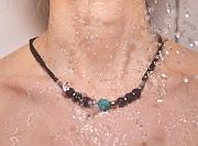 Kowal Outdoorschmuck Damenhalskette Little Adventure aqua plus, in der Dusche getragen, klein