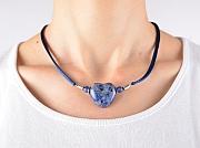 Kowal Outdoorschmuck mini Halskette Das Blaue Herz, am Hals getragen, klein