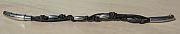 Kowal Outdoorschmuck Armband Black Leather lang, klein